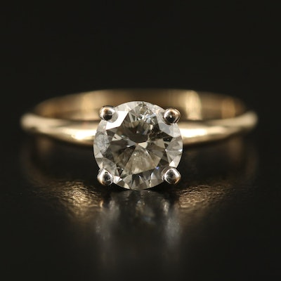 14K 1.19 CT Diamond Solitaire Ring