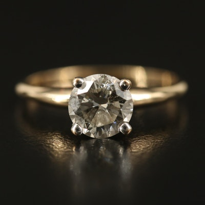 14K 1.19 CT Diamond Solitaire Ring