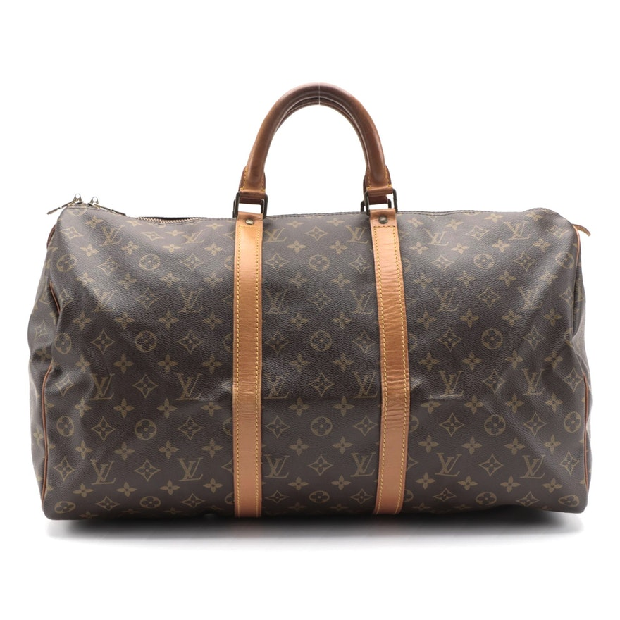 Louis Vuitton Malletier Keepall 50 Duffel Bag in Monogram Canvas