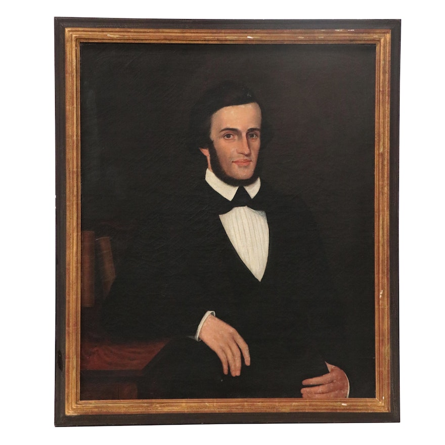 Portrait Oil Painting of Seated Gentleman, Late 19th Century