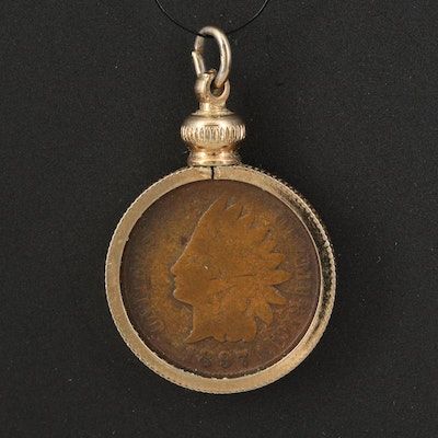 1897 Indian Head Coin Pendant