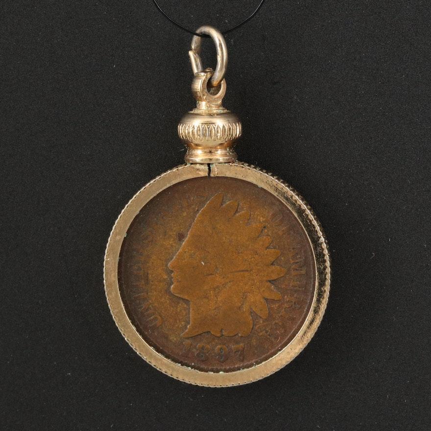 1897 Indian Head Coin Pendant