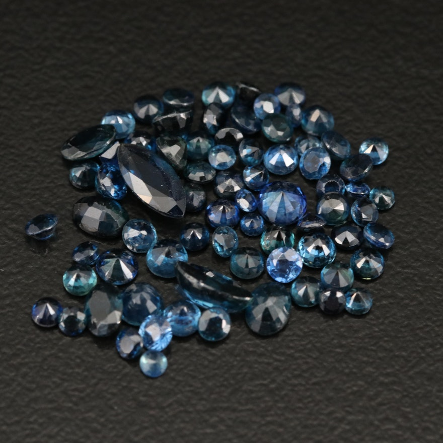 Loose 7.20 CTW Faceted Sapphire Selection