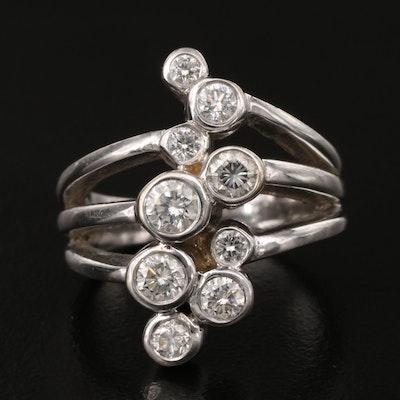 "Gems One Corp. 14K 1.04 CTW Diamond ""Bubbles"" Ring"