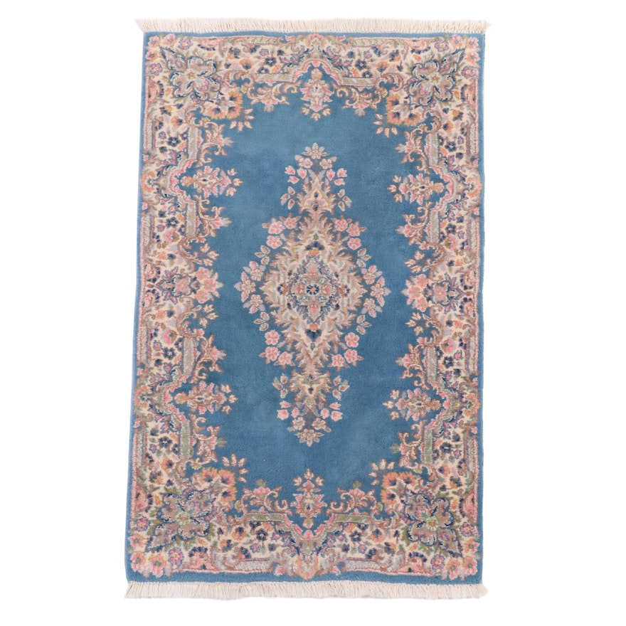 2'10 x 5' Hand-Knotted Persian Kerman Wool Accent Rug