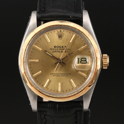 1978 Rolex Date 1500 18K Gold and Stainless Steel Automatic Wristwatch