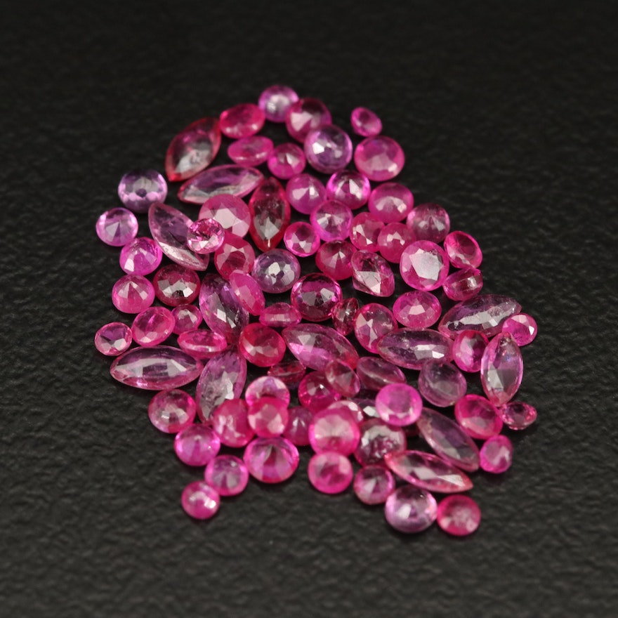 Loose 4.82 CTW Faceted Rubies