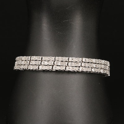Diamond Triple Line Bracelet