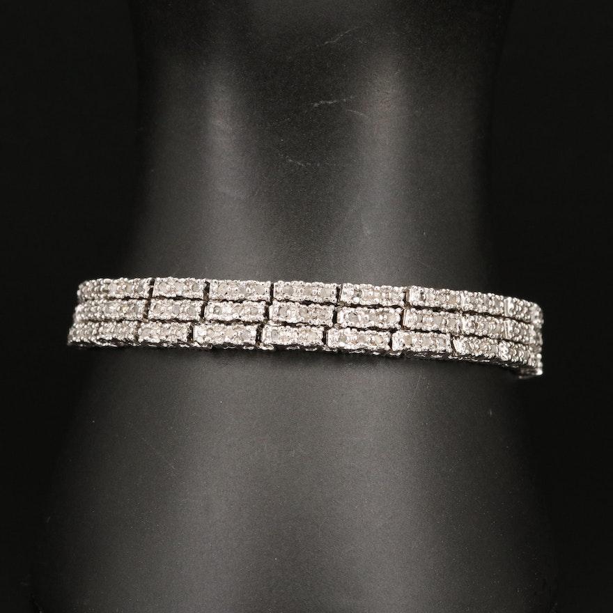 Diamond Triple Line Bracelet