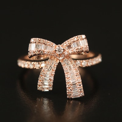 EFFY 14K Diamond Ribbon Ring