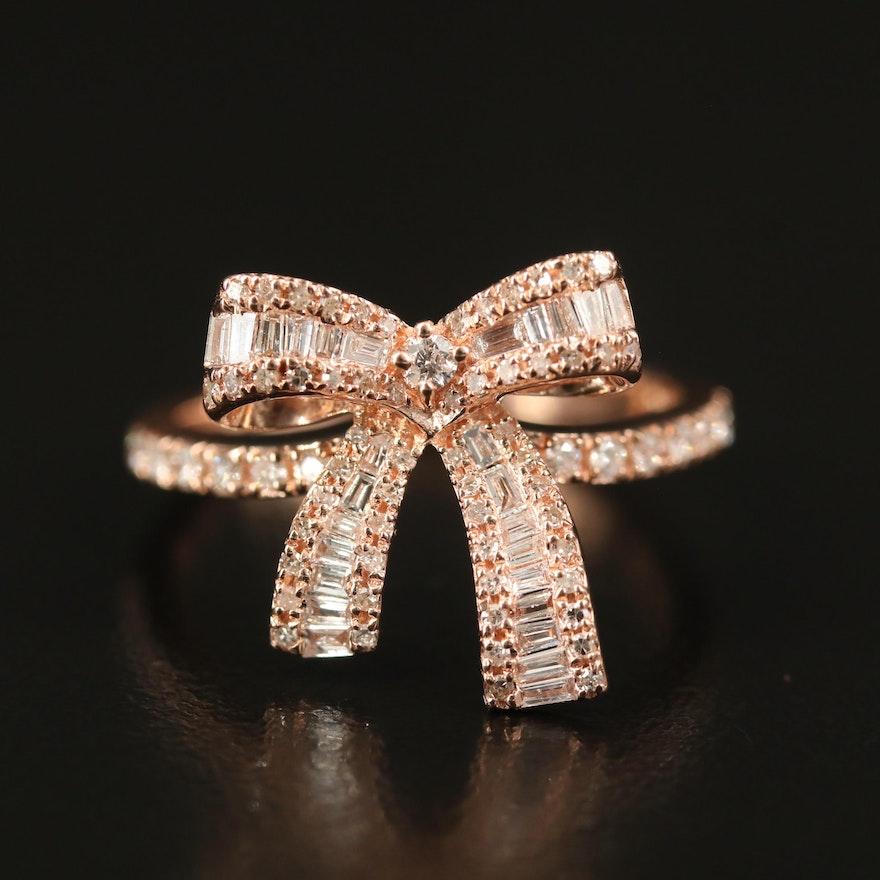 EFFY 14K Diamond Ribbon Ring