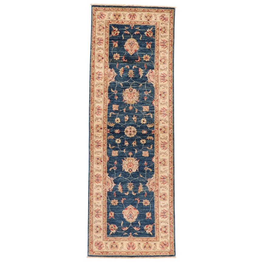 2'9 x 8' Hand-Knotted Afghan Persian Tabriz Carpet Runner, 2010s