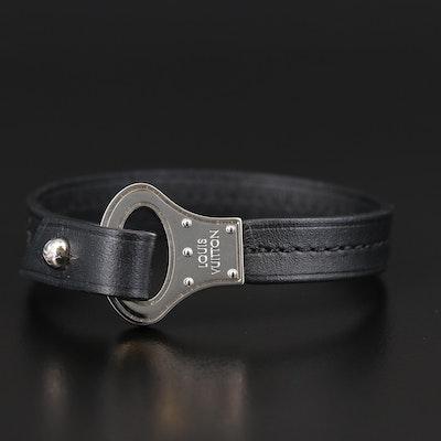 Louis Vuitton Leather Buckle Bracelet