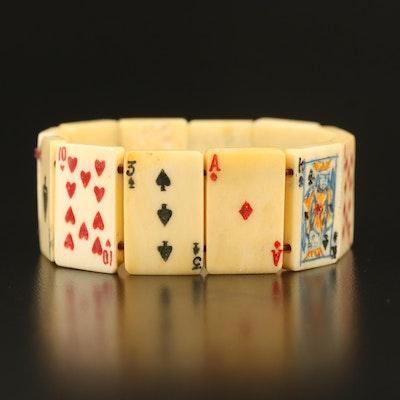 Bone Playing Card Panel Bracelet