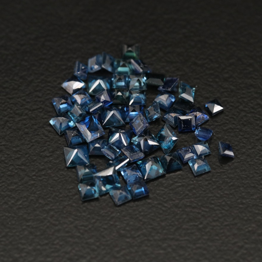 Loose 4.31 CTW Square Faceted Sapphires