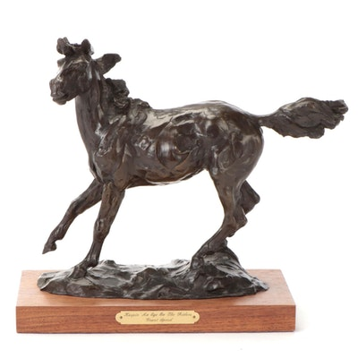 """Grant Speed Bronze Sculpture """"Keepin' an Eye on the Riders,"""" 1981"""