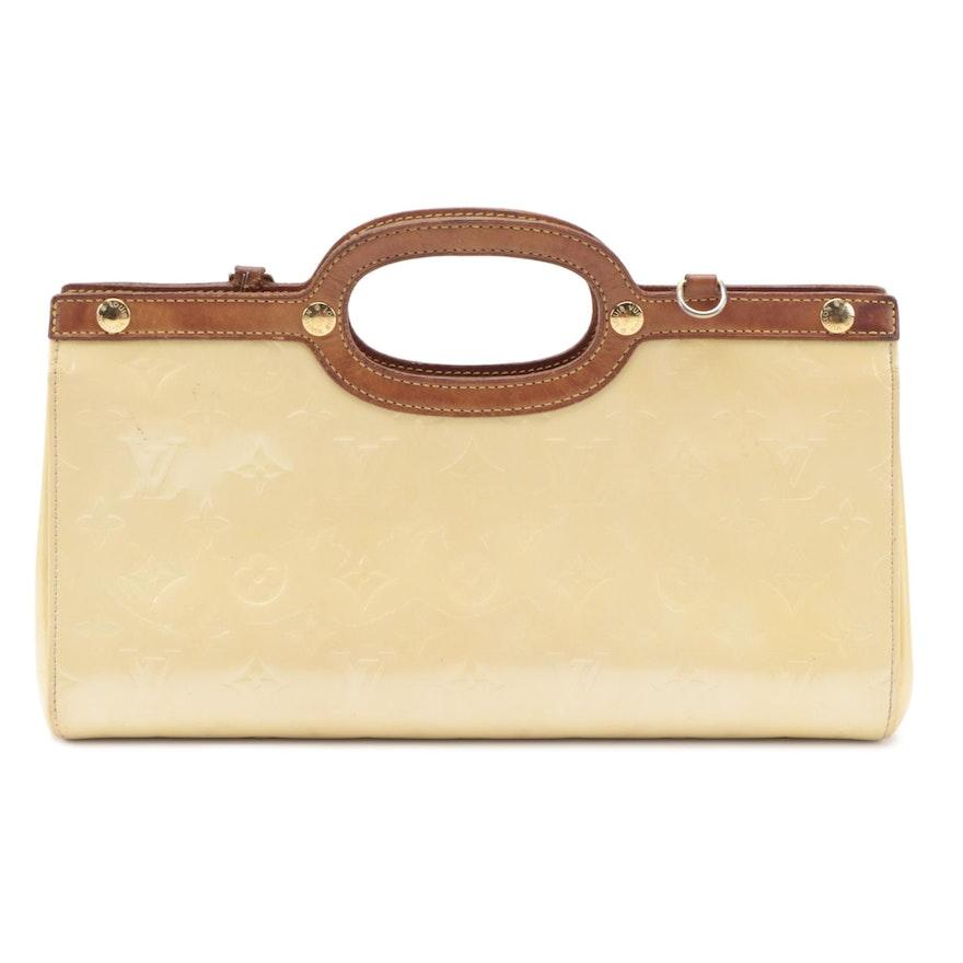 Louis Vuitton Roxbury Drive Two-Way Bag in Perle Monogram Vernis