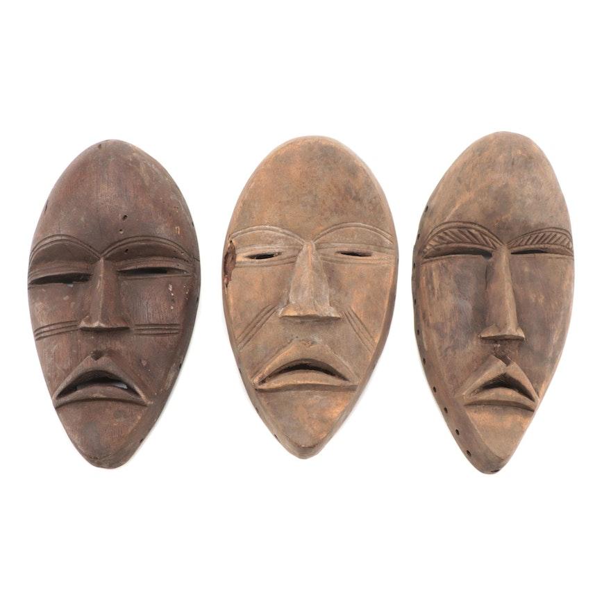 Dan Inspired Carved Wood Masks, West Africa
