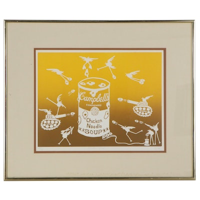 "Pop Art Serigraph ""Chicken Soup,"" Mid-Late 20th Century"