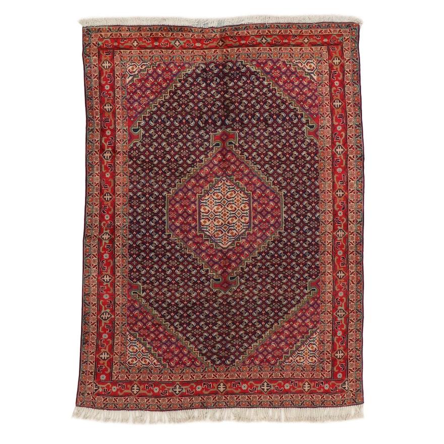 6'2 x 8'10 Hand-Knotted Northwest Persian Bijar Area Rug