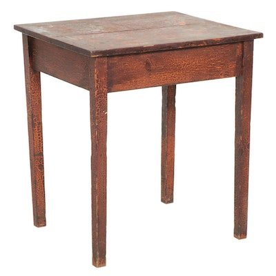American Primitive Side Table in Distressed Finish