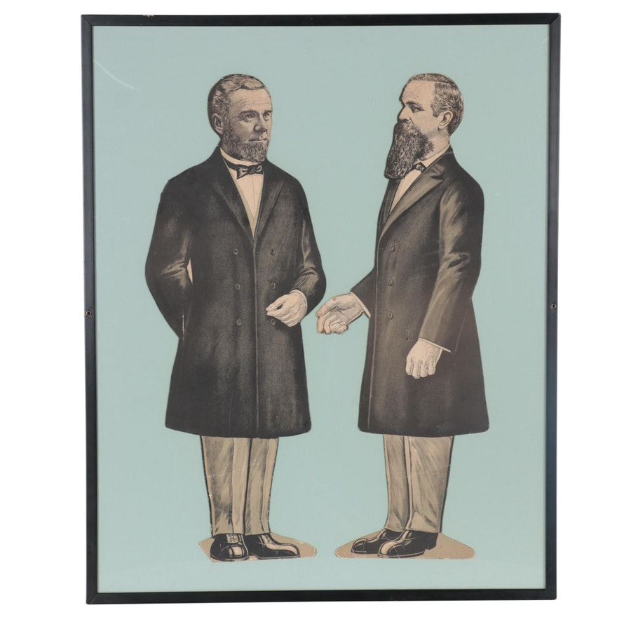 Lithograph Illustration Cut-Outs of the Smith Brothers, Early 20th Century