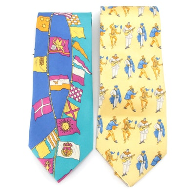 Gianni Versace Printed Silk Neckties