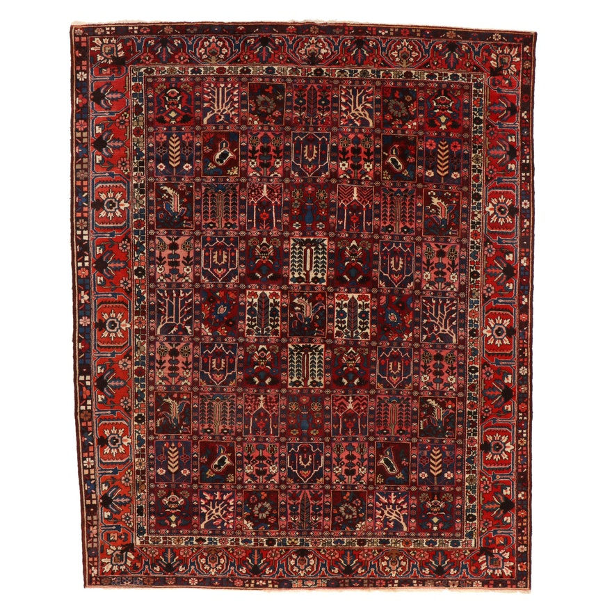 10'7 x 12'10 Hand-Knotted Persian Bakhtiari Pictorial Room Sized Rug