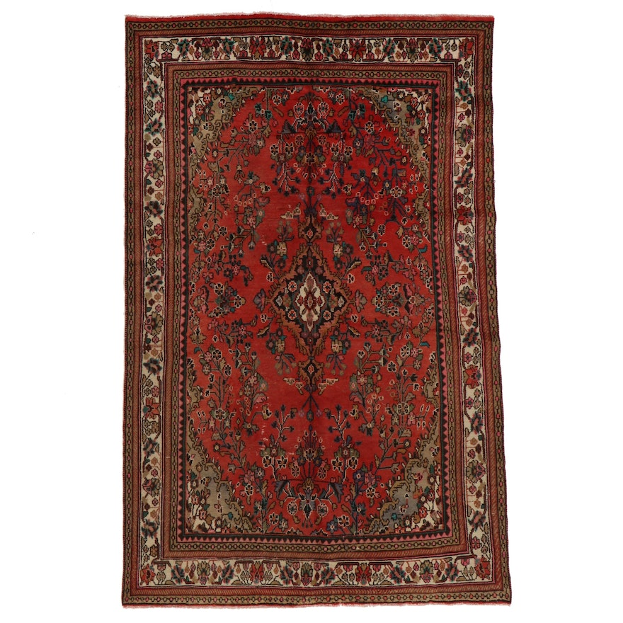 6'8 x 10'1 Hand-Knotted Persian Mehriban Area Rug