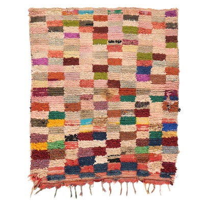 4'6 x 5'8 Hand-Knotted Moroccan Rag Rug