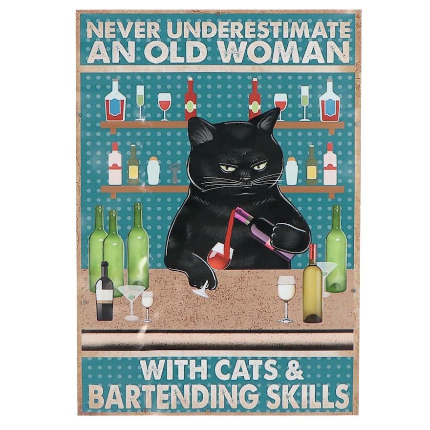 Giclée of Bar Cat, 21st Century
