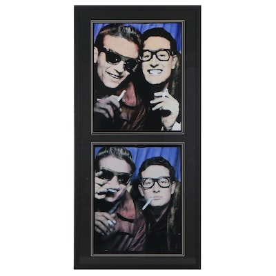 Giclée of Waylon Jennings and Buddy Holly Photobooth Pictures, 21st Century