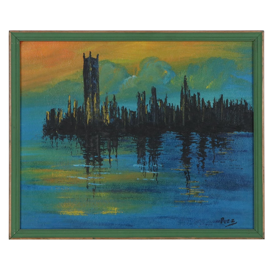Cityscape Oil Painting after Claude Monet of Houses of Parliament