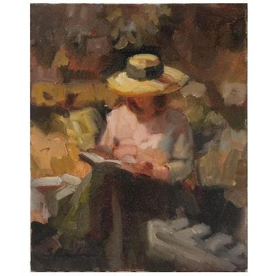 Sally Rosenbaum Figural Oil Painting, 21st Century