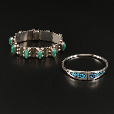 Mexican Sterling Bracelets Including Inlay