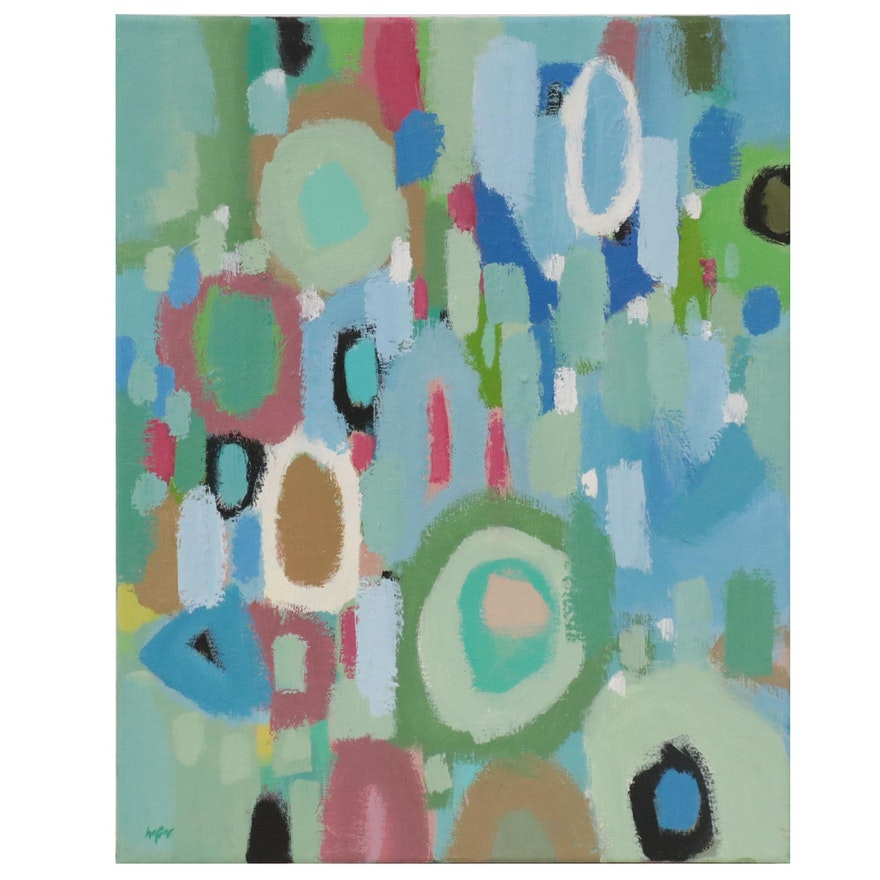Lee Hafer Abstract Acrylic Painting, 21st Century