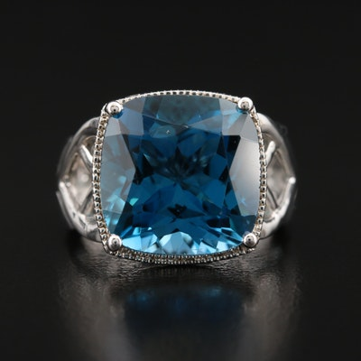 Sterling London Blue Topaz Sterling Ring