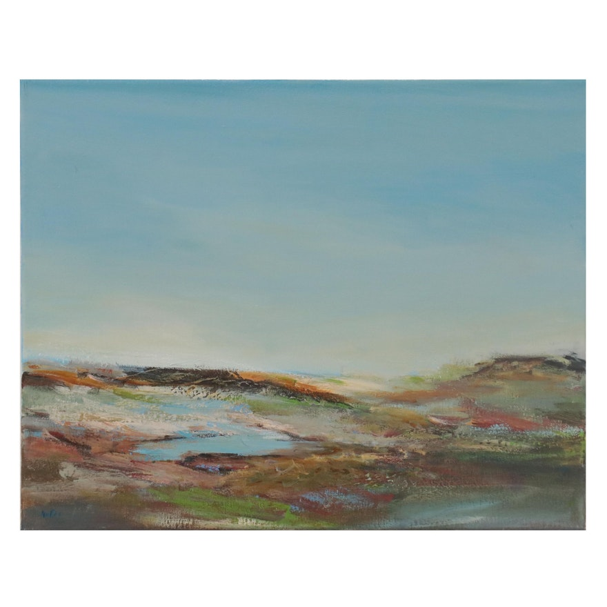 Lee Hafer Landscape Oil Painting, 21st Century