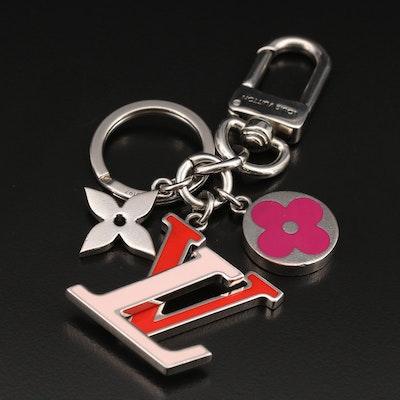 Louis Vuitton Enamel and Metal Fleur de Monogram Key Ring and Bag Charm