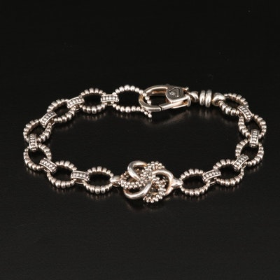 """Lagos """"Love Knot"""" Sterling Link Bracelet"""