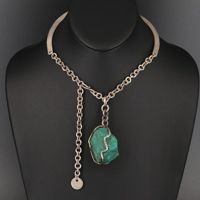 Peruvian Sterling Chrysocolla Nugget Collar
