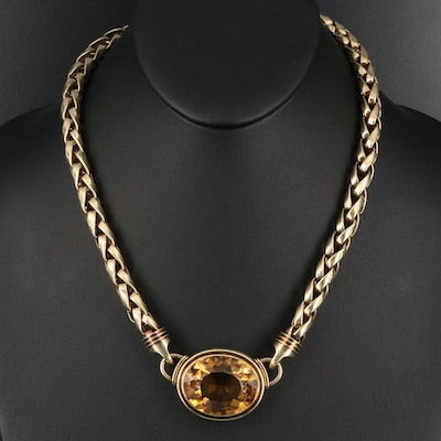 14K 41.00 CT Citrine Necklace