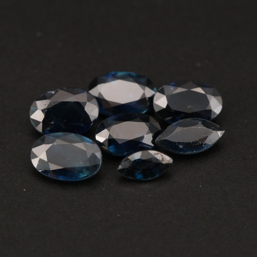 Loose 3.27 CTW Oval and Marquise Faceted Sapphires