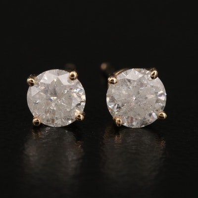 14K 0.76 CTW Diamond Stud Earrings
