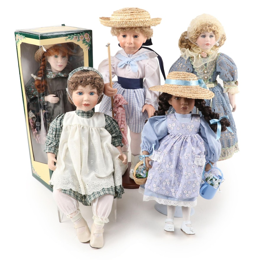 """Julie Good-Kruger """"Pollyanna"""" and Other Dolls, Late 20th Century"""
