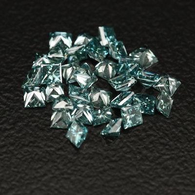 Loose 1.76 CTW Princess Cut Diamonds