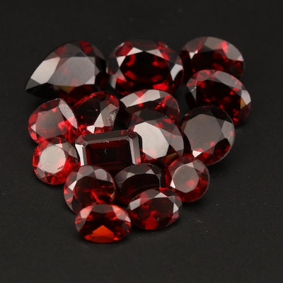 Loose 27.08 CTW Mixed Faceted Garnet and Citrine