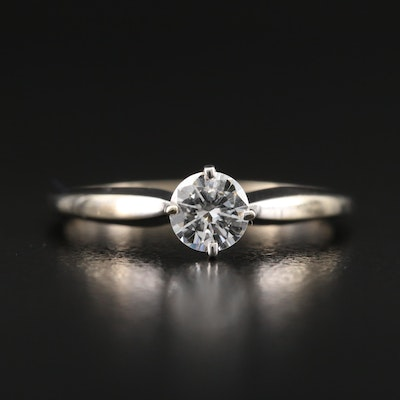 14K 0.38 CT Diamond Solitaire Ring