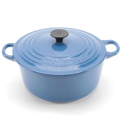 Le Creuset 3.5 Quart Blue Enameled Cast Iron Dutch Oven