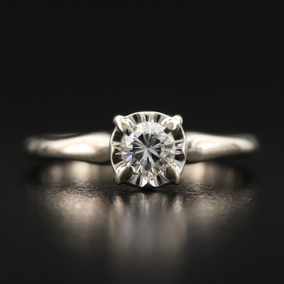 Vintage 14K 0.25 CT Diamond Solitaire Ring
